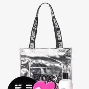 PINK Foil Beauty Tote Bag - NWT